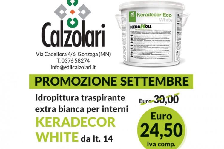 Promozione di Settembre: idropittura Kerakoll a soli 24,50€!