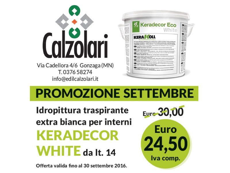 Promozione di settembre idropittura kerakoll a soli 24 50 for Calzolari arredo urbano